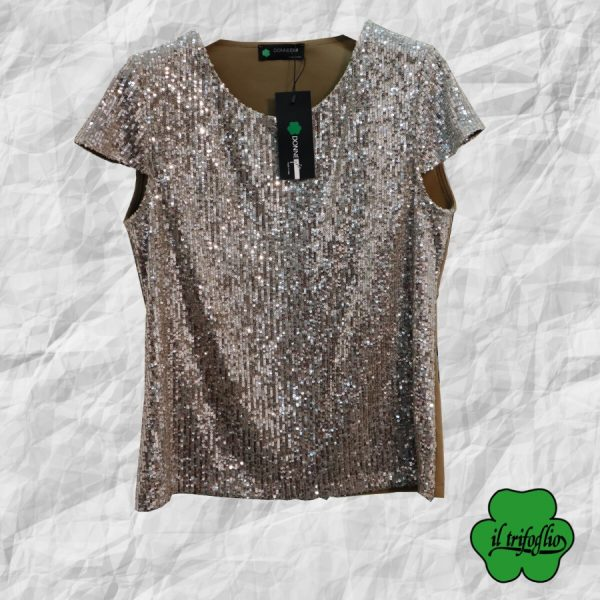 Top con Paillettes